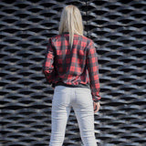 3D Printed Red Tartan Bomber Jacket - WS-Jackets