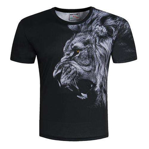 3D Lion Print Designed Stylish Summer T shirt - Wear.Style