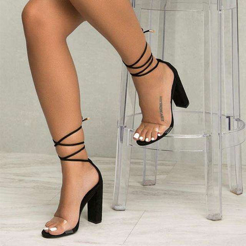 High Heels Transparent Ankle Strap - Wear.Style