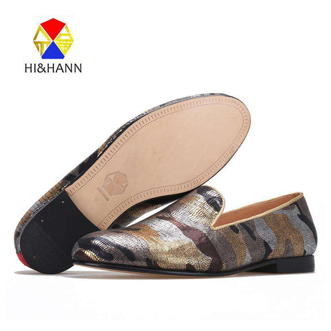 Luxurious Gold Camouflage Dress Shoes - Wear.Style