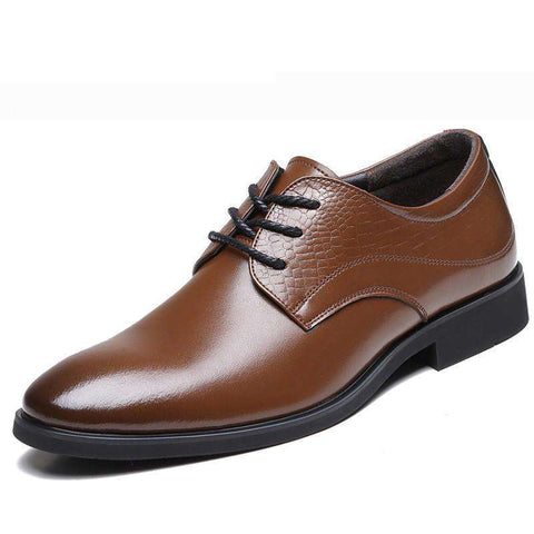 High Quality Point Toe Lace Up Handmade Casual Leather Shoes