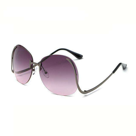 Oversize Designer Big Size Clear Lens Rimless Sunglasses - Wear.Style