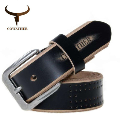 High Quality Genuine Leather Luxury Strap Pin Buckle Belts - Wear.Style
