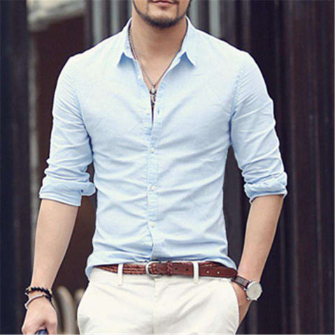 Linen Designer Slim Fit Long Sleeve Shirts - Wear.Style