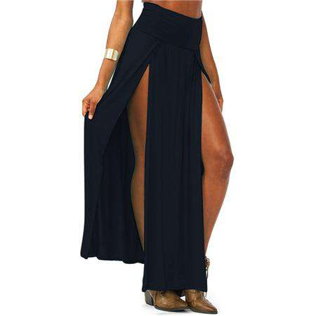 Front Opening Long Slit Sexy High Waist Skirt - Wear.Style