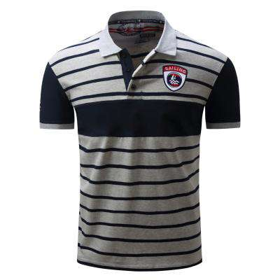 Striped Casual Leisure Short Sleeve 100% Cotton tees