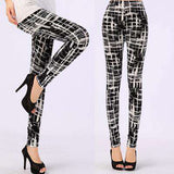 Black Milk Print Soft Skin Material Leggings - Wear.Style