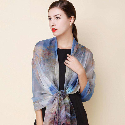 High quality 100% real silk Scarf - Wear.Style