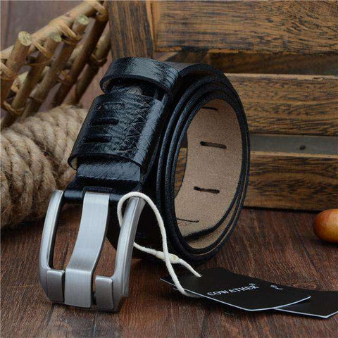 Genuine Luxury Leather Pin Buckle Belts