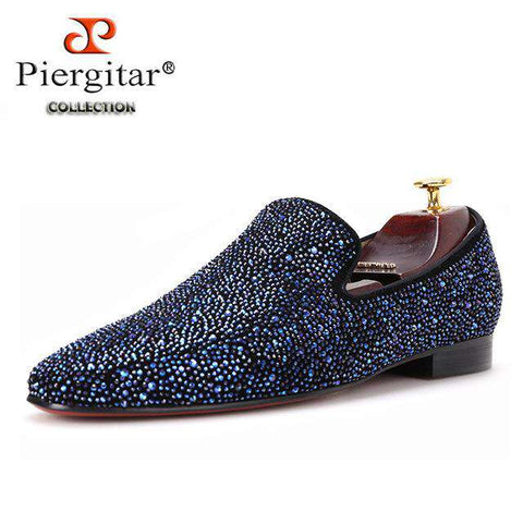 Leather shoes with Mixed Rhinestones Casual Loafers - Wear.Style