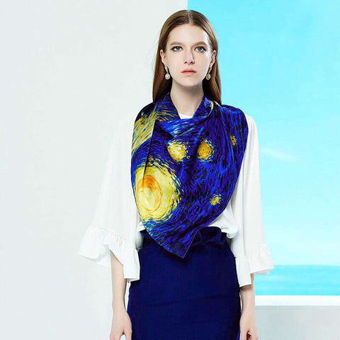 Luxury 100% Natural Silk Large Size Scarf - Wear.Style
