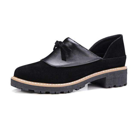 Slip-on Low Heel Thick Heel Shoes Oxfords