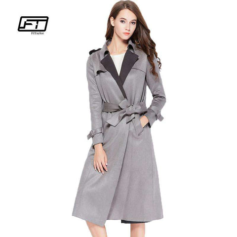 Turn-down Collar Medium Long Coat