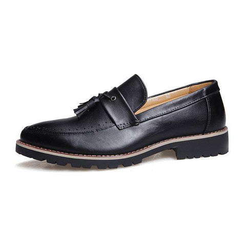 Leather Tassel Loafers - Wear.Style