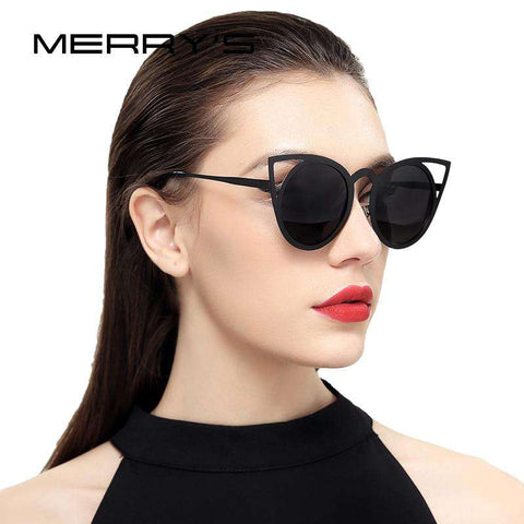 Cat Eye Designer Shades Round Frame Sunglasses