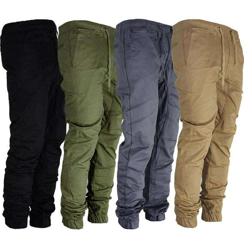 Hip Hop Slim Fit Cuffed Trousers