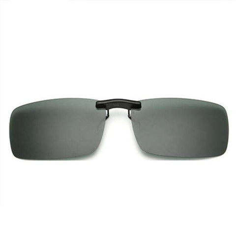 Rimless Polarised Clip on Driving Flip Night Vision Lens UV400 Sunglasses
