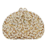 Flower Crystal Golden Stones rhinestone Clutch Bag - Wear.Style
