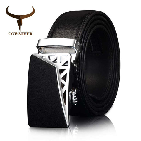 Genuine Leather Automatic Ratchet Buckle Belts - Wear.Style