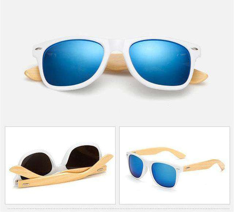 Vintage Retro Wood Legs Driving Eyewear UV400 Sunglasses