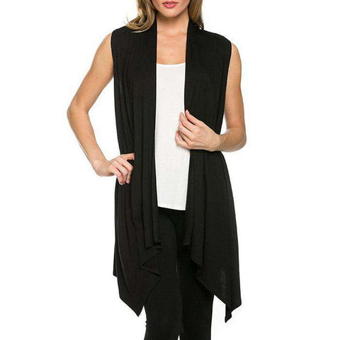 Sleeveless Long Knitted Cardigan - Wear.Style