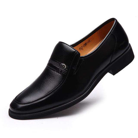 Classic Business Slip-On Flats Luxury Micro Fibber Leather Shoes