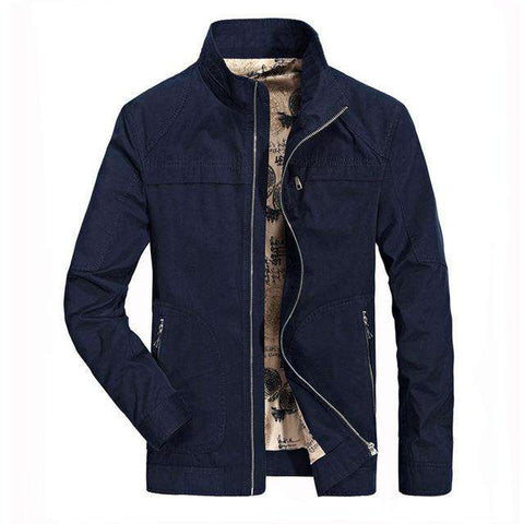 Solid Coat Collar Jacket - Wear.Style