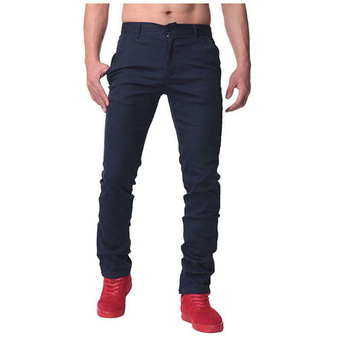 Straight Chinos Slim Fit Trousers