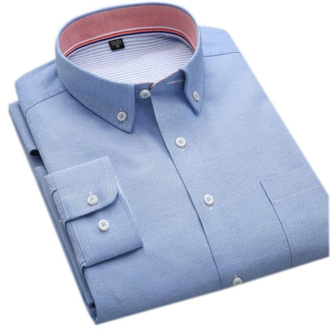 Non-iron Single Breasted Full Sleeve Oxford High quality Shirt