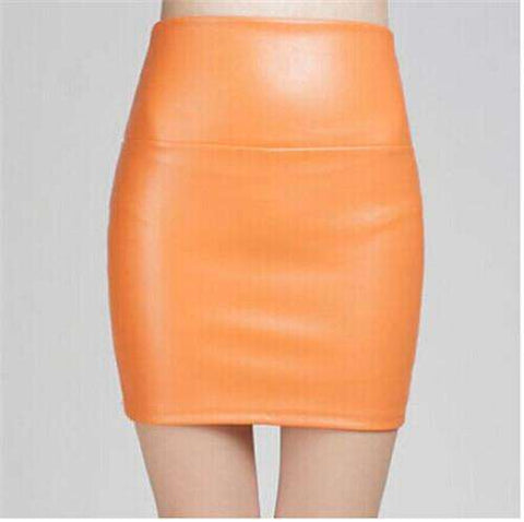 Tight Sexy PU Leather Mini Short Skirt