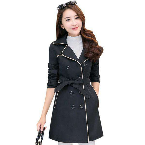 Adjustable Waist Trench Coat - Wear.Style