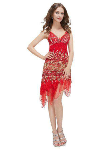 Hot Sexy Knee Length Lace Cocktail Dress - Wear.Style