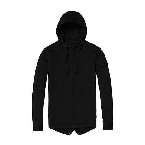 Hooded Casual Front Pocket Slim Fit Coat