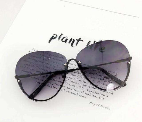 Big Transparent Clear Lens Rimless Sun Glasses - Wear.Style : Sunglasses