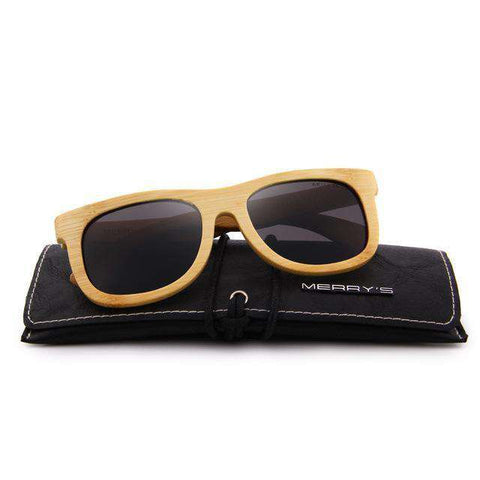 Bamboo Unisex Retro Polarised HAND MADE 100% UV Protection Sunglasses