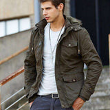 Thick Warm Hooded Parka Military Overcoat
