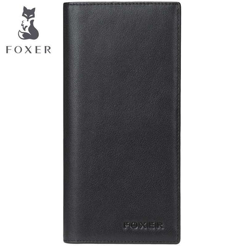 FOXER Genuine Cowhide  Long High Quality Wallet Clutch Bag Purse