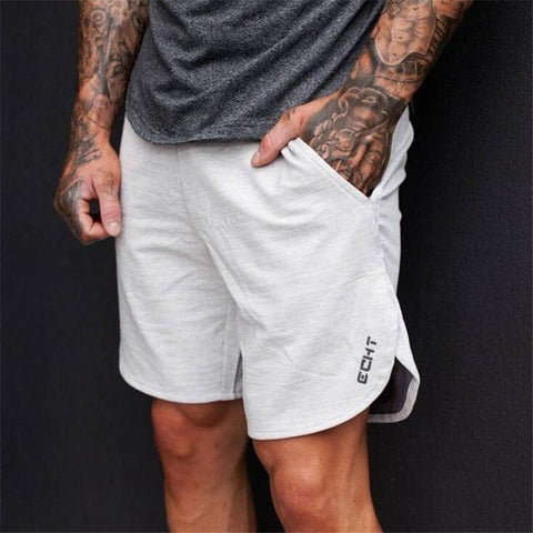 Cotton Bodybuilding Fitness Jogger Casual Men Shorts
