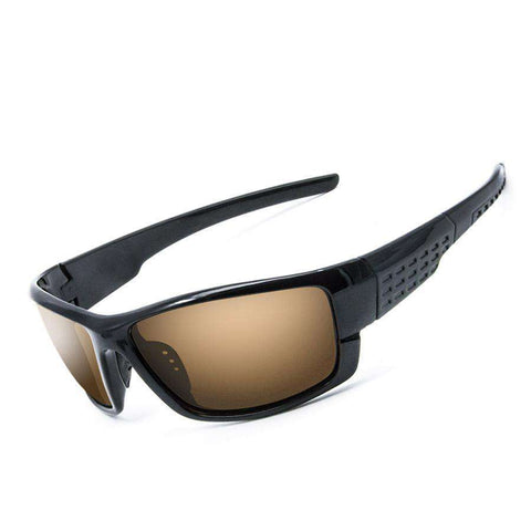 Polarised Yellow Brown Coloured Lenses Outdoor Sport Eyewear UV400 Sunglasses