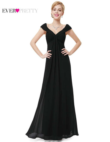 Elegant V-neck Long Maxi Party Evening Dress