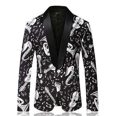 Single Breasted Floral Printed Slim Fit Blazer