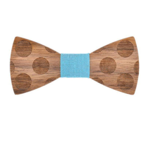 Stereoscopic Dot Wood Handmade Butterfly Bow Tie