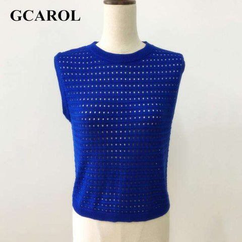 Hollow Out Sleeveless Pullover - Wear.Style