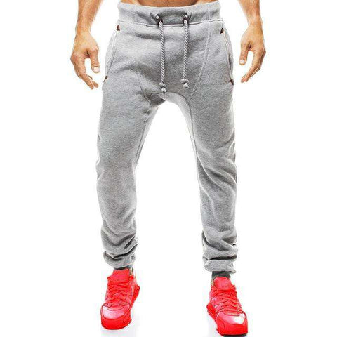 Slim Fit Sweatpants Casual Tracksuit Bottoms Plain Men Fitness Workout Pants - Wear.Style