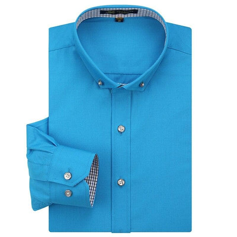 Long Sleeve Square Neck Formal Business Shirt