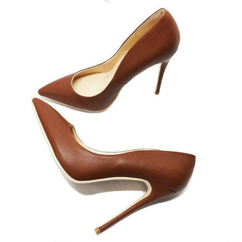 High Heels Brown Pumps Shoes Sandals
