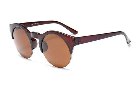 Designer Vintage Semi-rimless Retro Sun Glasses - Wear.Style