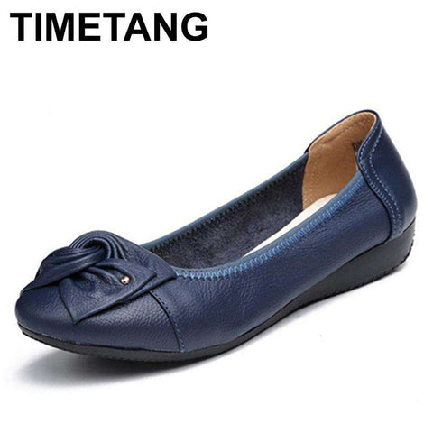 Genuine Leather Bowknot Casual Shoes - Wear.Style