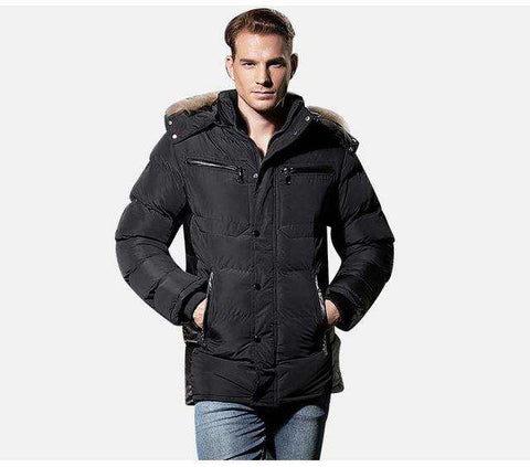 Parkas Hooded Cotton Thick Long Warm Jacket - WS-Jackets