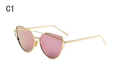 Gradient Ocean Lens Cat Eye Sunglasses